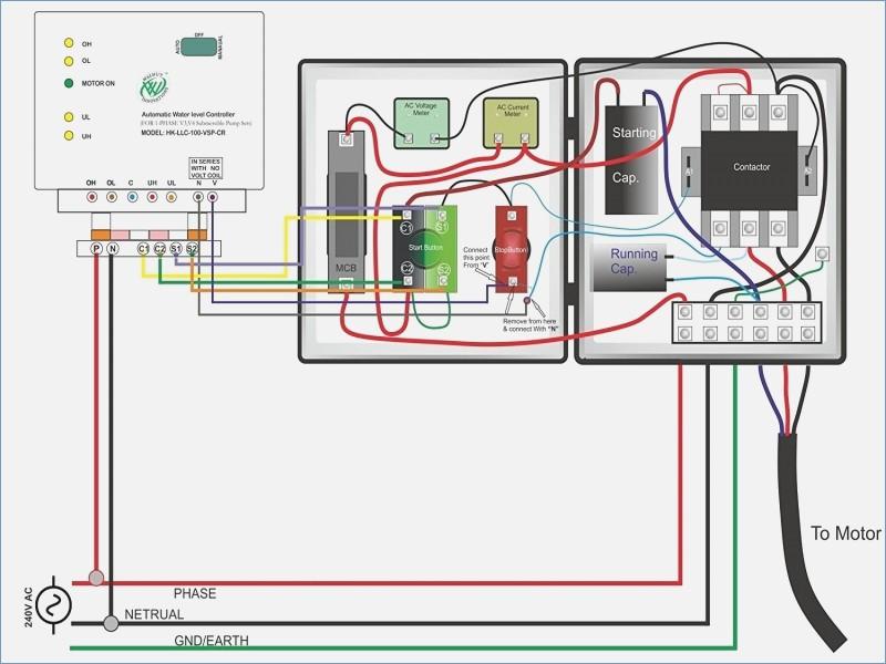 single phase submersible pump starter wiring diagram Download-Single Phase Submersible Motor Starter Wiring Diagram Explanation Single Phase Submersible Motor Starter Wiring Diagram 19-s