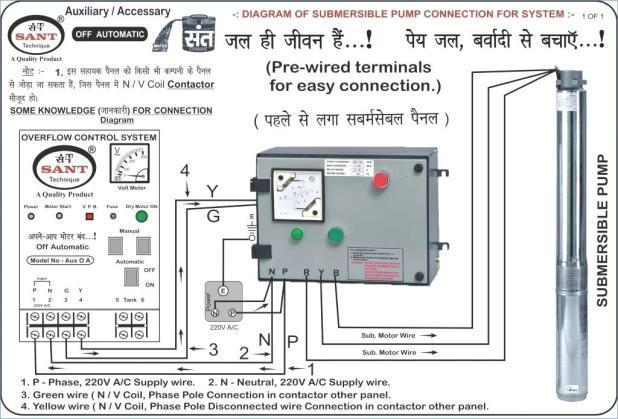 single phase submersible pump starter wiring diagram Download-Single Phase Submersible Pump Starter Circuit Diagram Pdf 15-p