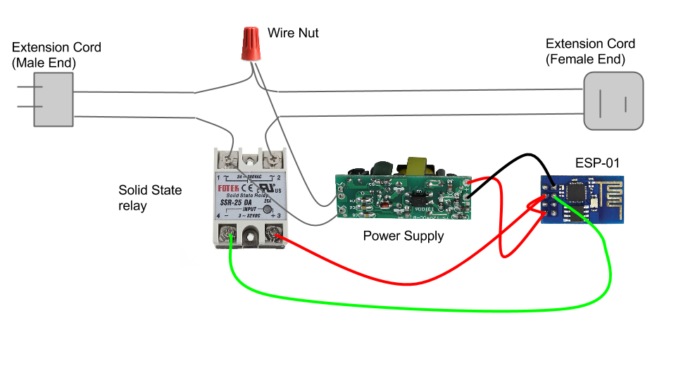 solid state relay wiring diagram Collection-ESP8266 Solid State Relay Controller Project Idea 14-m