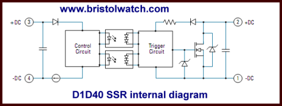 solid state relay wiring diagram Download-Internal block diagram Crydom D1D40 MOSFET output SSR 6-c