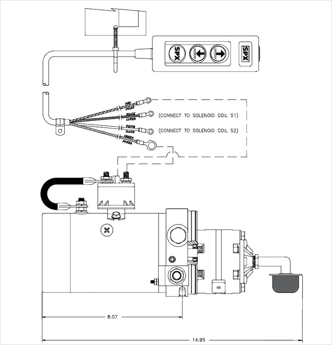 Spx Stone Hydraulic Pump Wiring Diagram - Spx Stone Hydraulic Pump Wiring Diagram for Dc 60sfc 12v solenoid Electric 4 Hydraulic Pump 20e