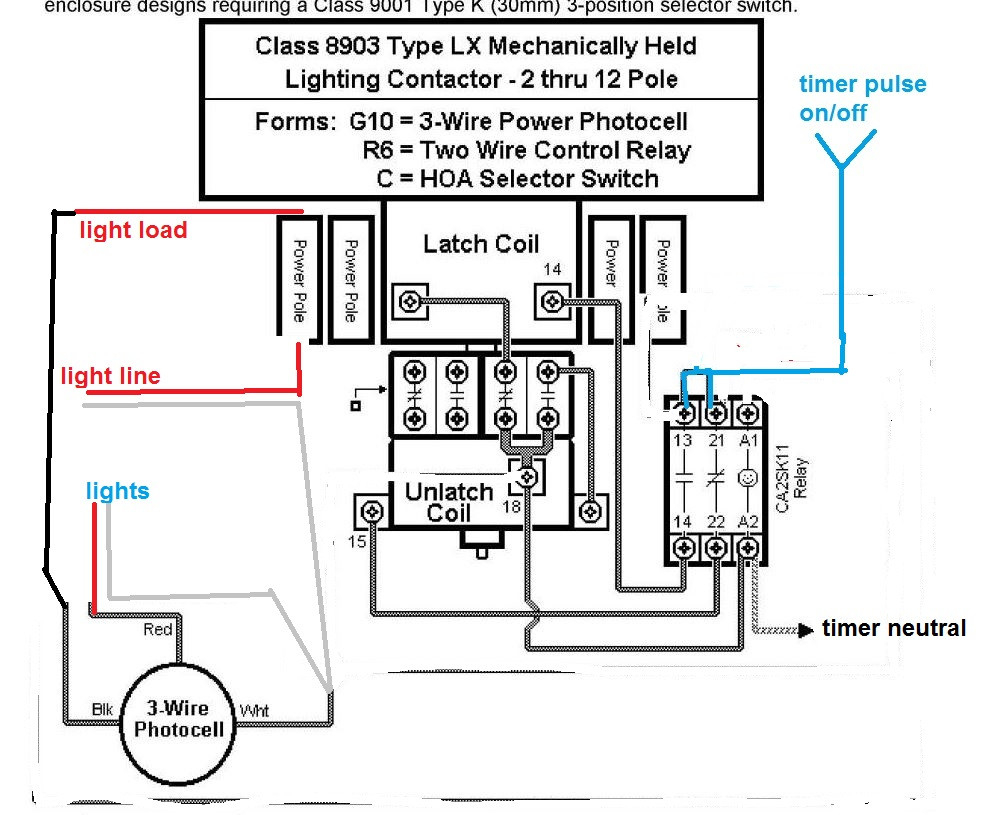 square d 8903 lighting contactor wiring diagram download wiringWire Lighting Contactor Schematic #21