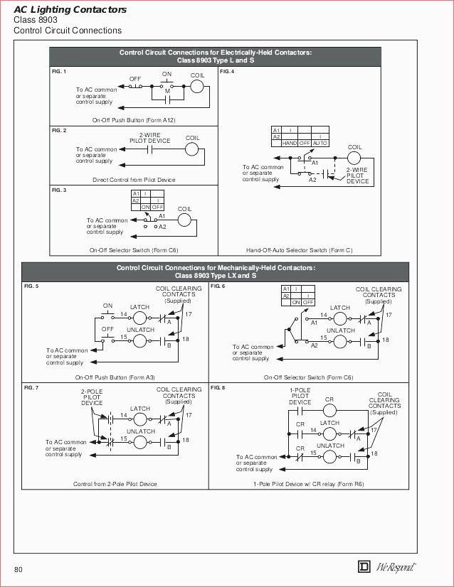 Square D Hand Off Auto Wiring Diagram  3 Position Selector