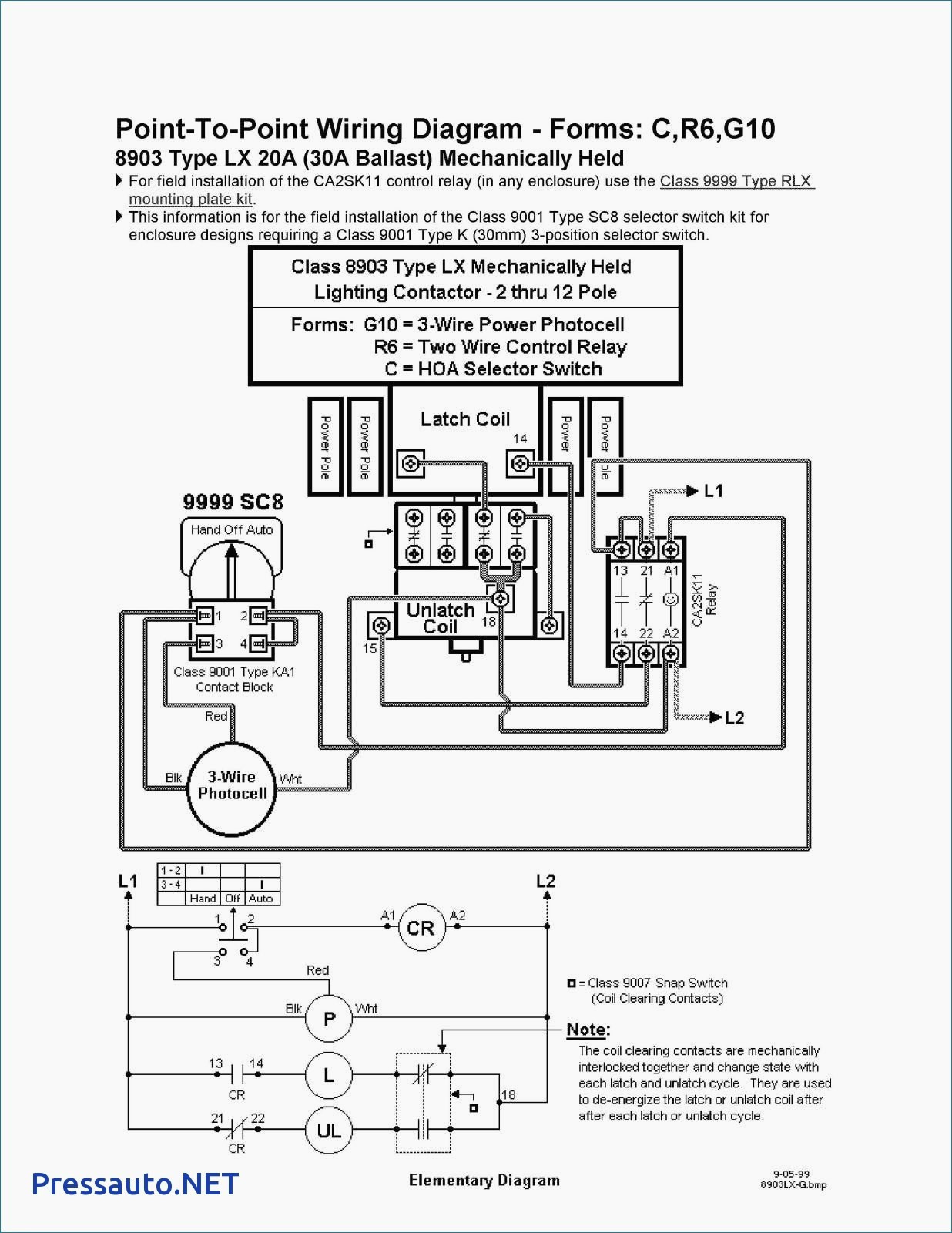 Square D 8903 Lighting Contactor Wiring Diagram - Square D 893 Lighting Contactor Wiring Diagram Unique Class How to Wire In Square D 8903 10l