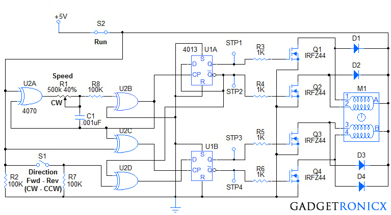 stepper motor wiring diagram Download-Stepper Motor Wiring Diagram Beautiful Stepper Motor Controller Circuit Diagram Using Ic S Ic 4070 An 1-p