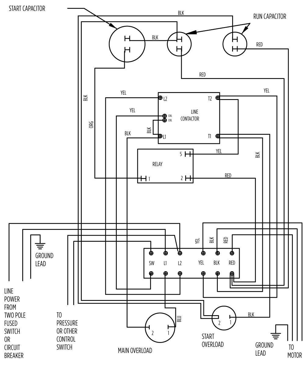 Submersible Pump Control Box Wiring Diagram Download 3 Phase Surge Protector Collection Deep Well Best