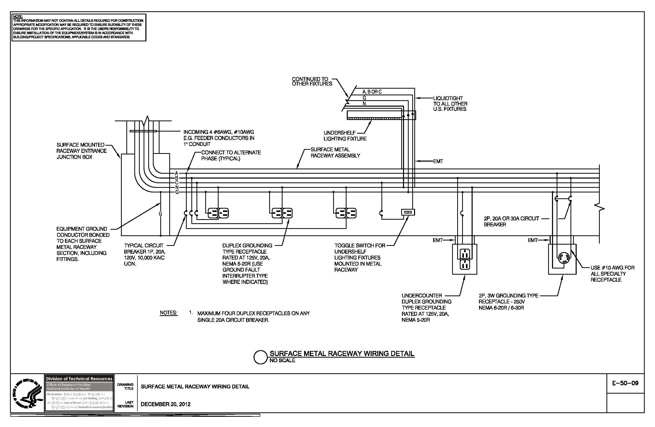 Swimming Pool Electrical Wiring Diagram - Of E 50 09 Surface Metal Raceway Wiring Detail Nih Standard Cad Details From Above Ground New Ground Pool Electrical Wiring Diagram 12s