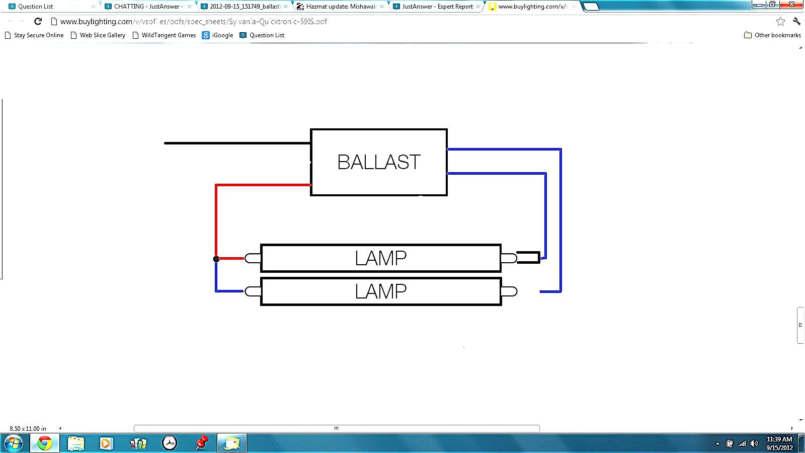 Universal ballast wiring diagram