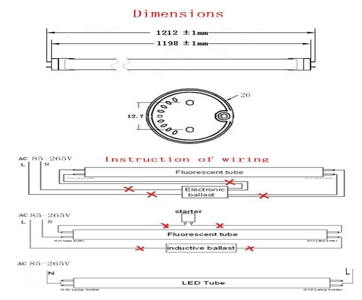 t8 led tube wiring diagram Download-The installation of T8 linear constant current LED tube Wiring diagram for LED tube light 1-o