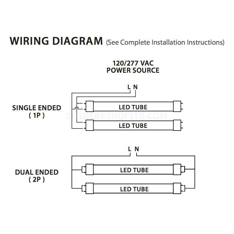led t8 wiring diagram 120v online schematic diagram u2022 rh tentenny com Wiring Diagram for T8 Fluorescent Lights T8 Fluorescent Fixture Wiring