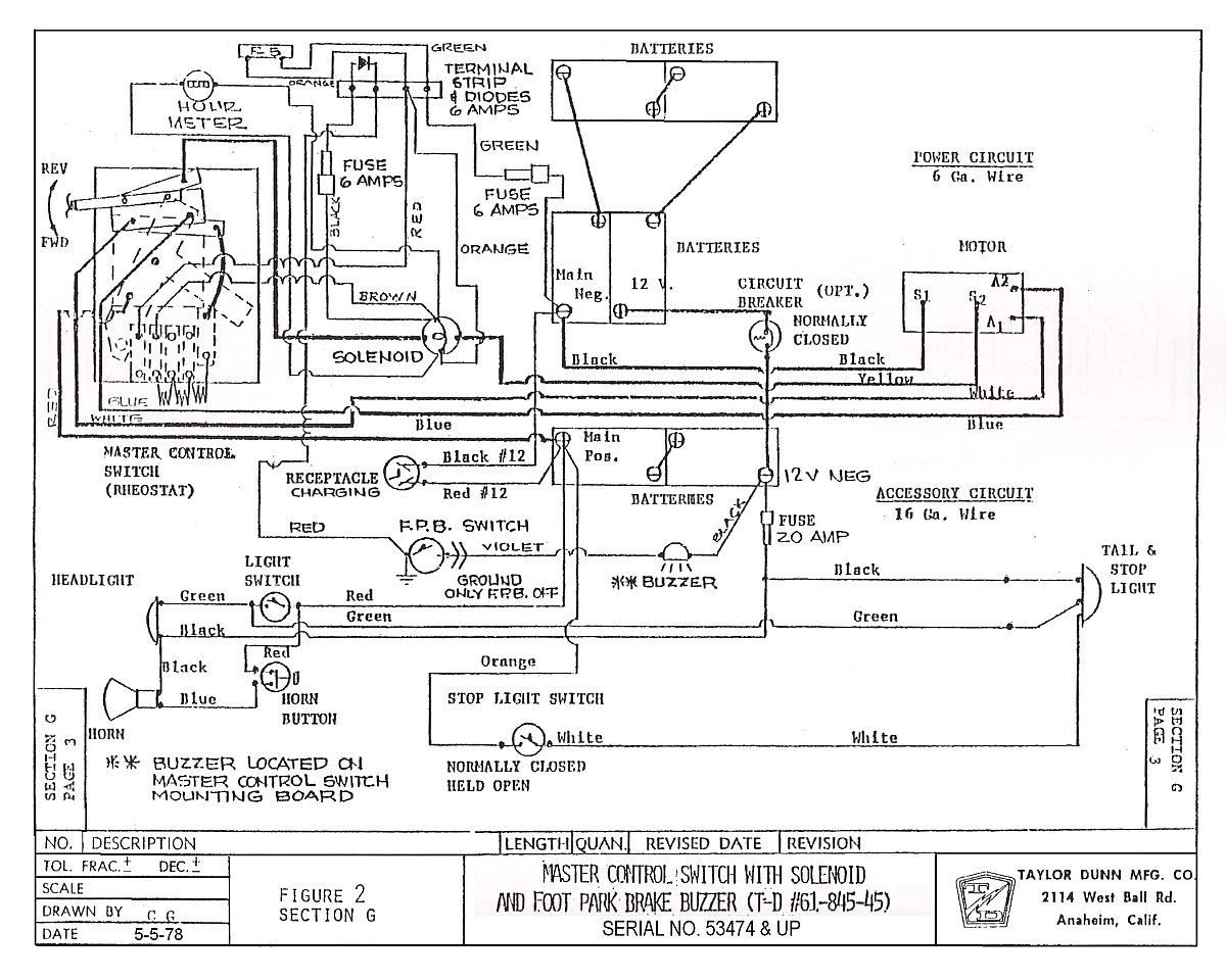 taylor dunn 36 volt wiring diagram Download-Great Ez Go Electric Golf Cart  Wiring Diagram