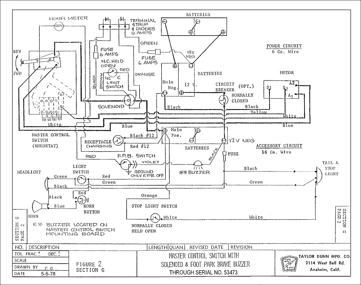 melex golf cart wiring diagram fuses