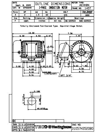Westinghouse 5 Hp Wiring Diagram || Wiring Diagrams Home on