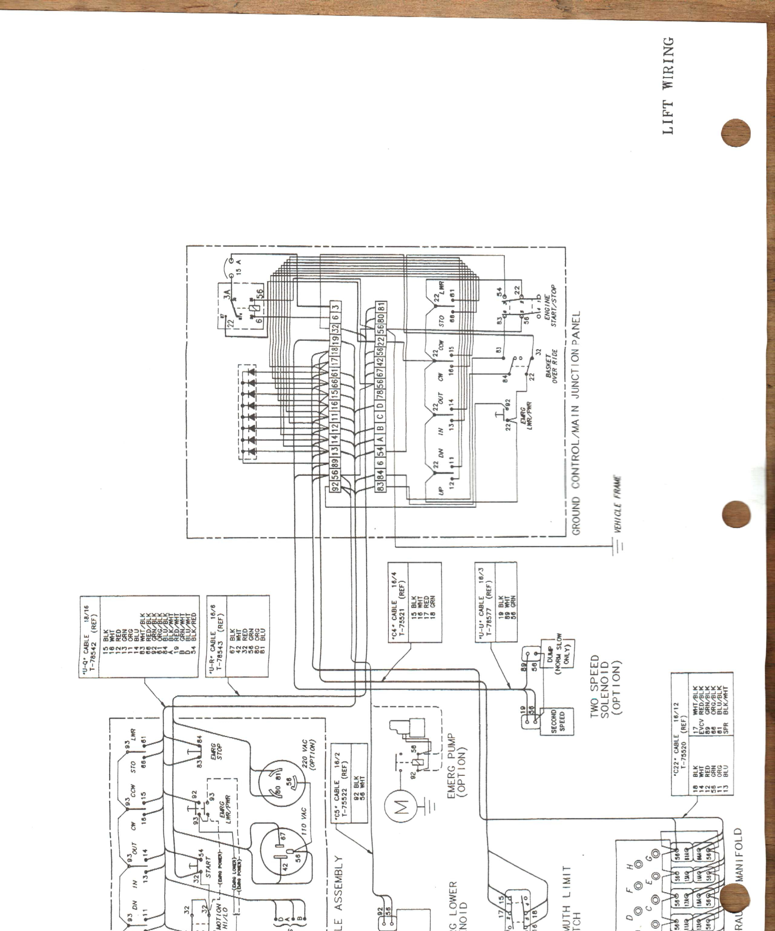 Altec Hydraulic Lift Diagram For Wiring Basic Monarch Complete Diagrams U2022 Rh Oldorchardfarm Co Bruno Asl 210 Headlight