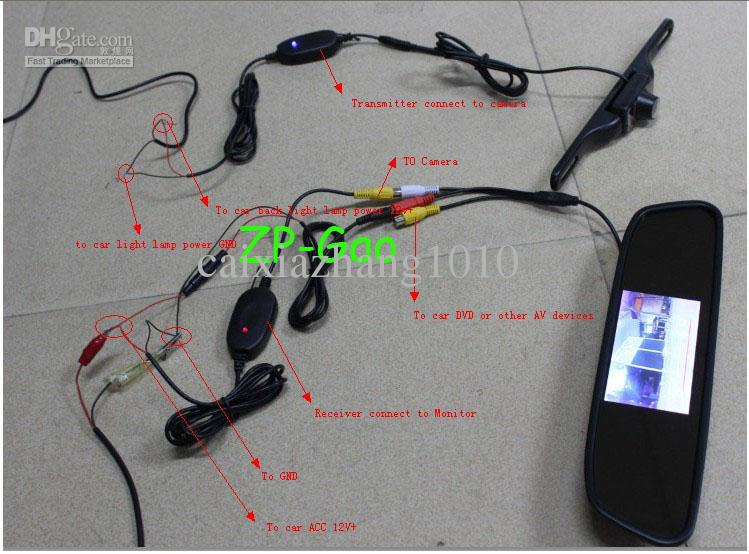 tft lcd monitor reversing camera wiring diagram Collection-How to Install Wired Backup Camera System Unique 4 3 Car Tft Lcd Mirror Monitor Wireless 12-h