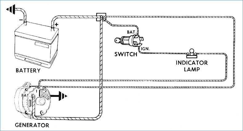 Three Wire Alternator Wiring Diagram Sample