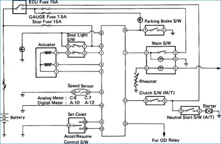 toyota electrical wiring diagram Download-Cruise Control System Wiring Diagram Toyota Celica Supra MK2 86 8-o