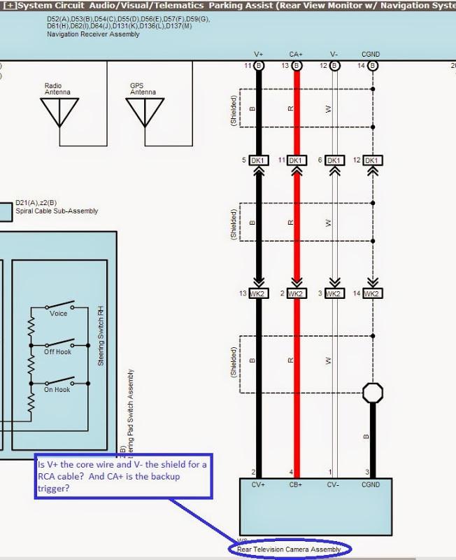 2013 toyota tundra backup camera wiring diagram car wiring rh ethermag co