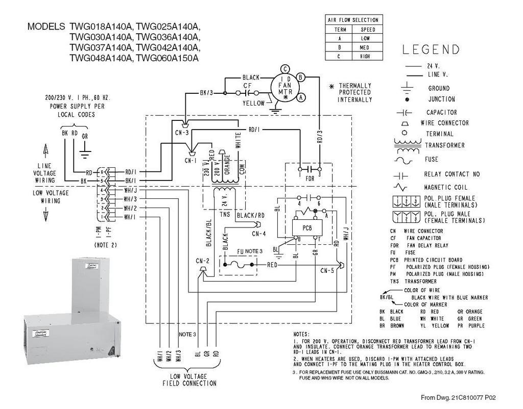 trane ac wiring diagram Collection-Air Handler Wiring Diagram 18-m