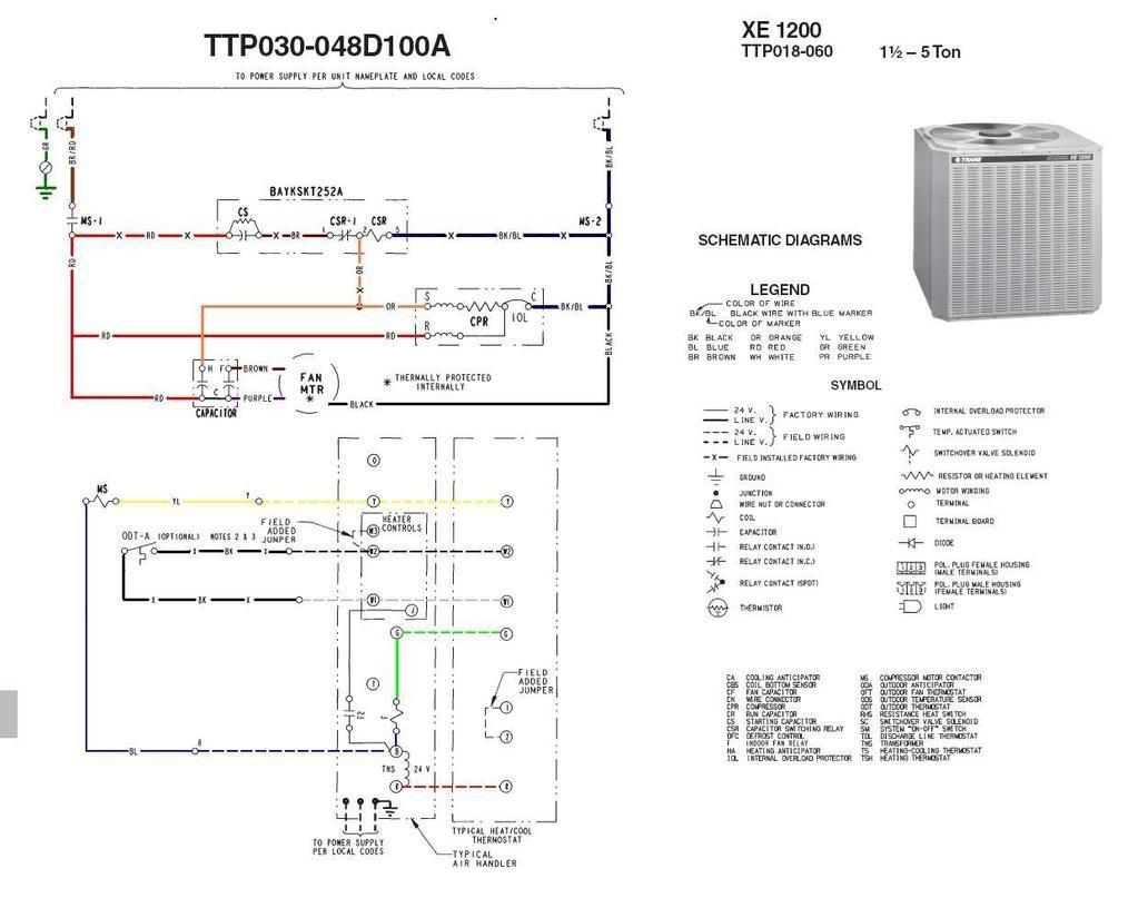 trane ac wiring diagram Download-Trane Air Conditioner Wiring Diagram 13-o