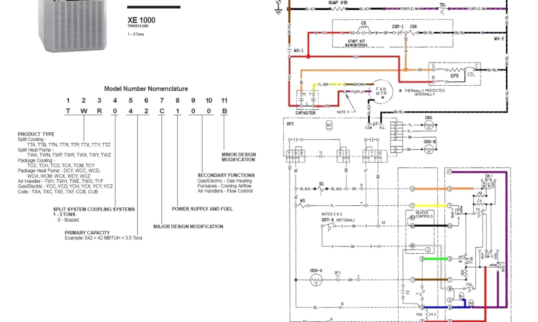 trane thermostat wiring diagram Collection-Trane thermostat Wiring Diagram  New Wiring Diagram for Trane thermostat