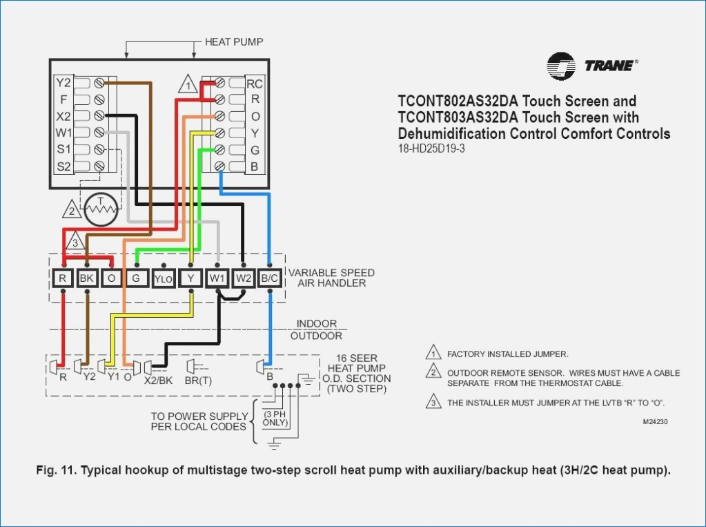 Trane Xt500c Thermostat Wiring Diagram - Electrical Drawing Wiring ...