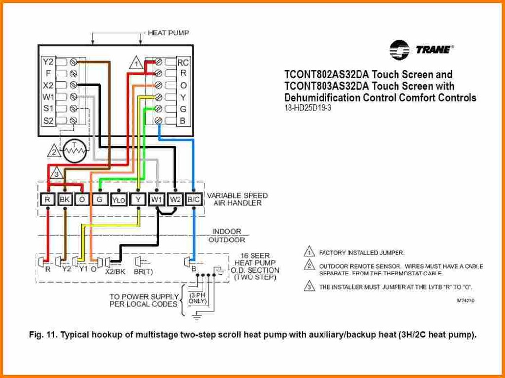 trane thermostat wiring diagram Collection-Typical 2 Wire thermostat Installation Unique How to Wire A Heat Pump thermostat Honeywell Wiring Diagram 5-d