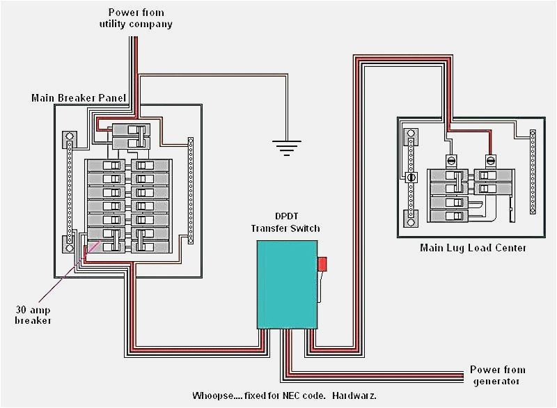 transfer switch wiring diagram Collection-Changeover Switch Circuit Diagram Unique Standby Generator Transfer Switch Wiring Diagram 0d 1-e