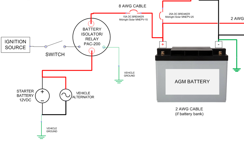 with battery charging isolator wire diagram