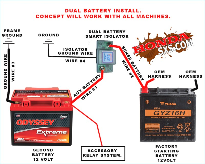 true battery isolator wiring diagram Download-Multi Dual Battery Install With True Isolator 13-d