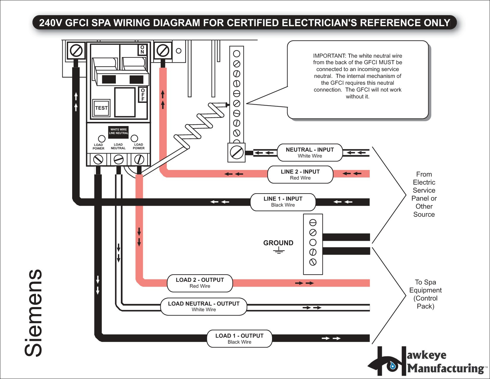 two pole gfci breaker wiring diagram gallery