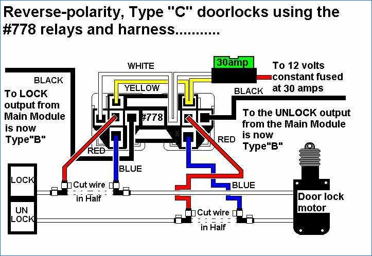 5 wire door lock type wiring diagram center u2022 rh culinaryco co 12 Volt Relay Wiring Diagrams 12 Volt Relay Wiring Diagrams