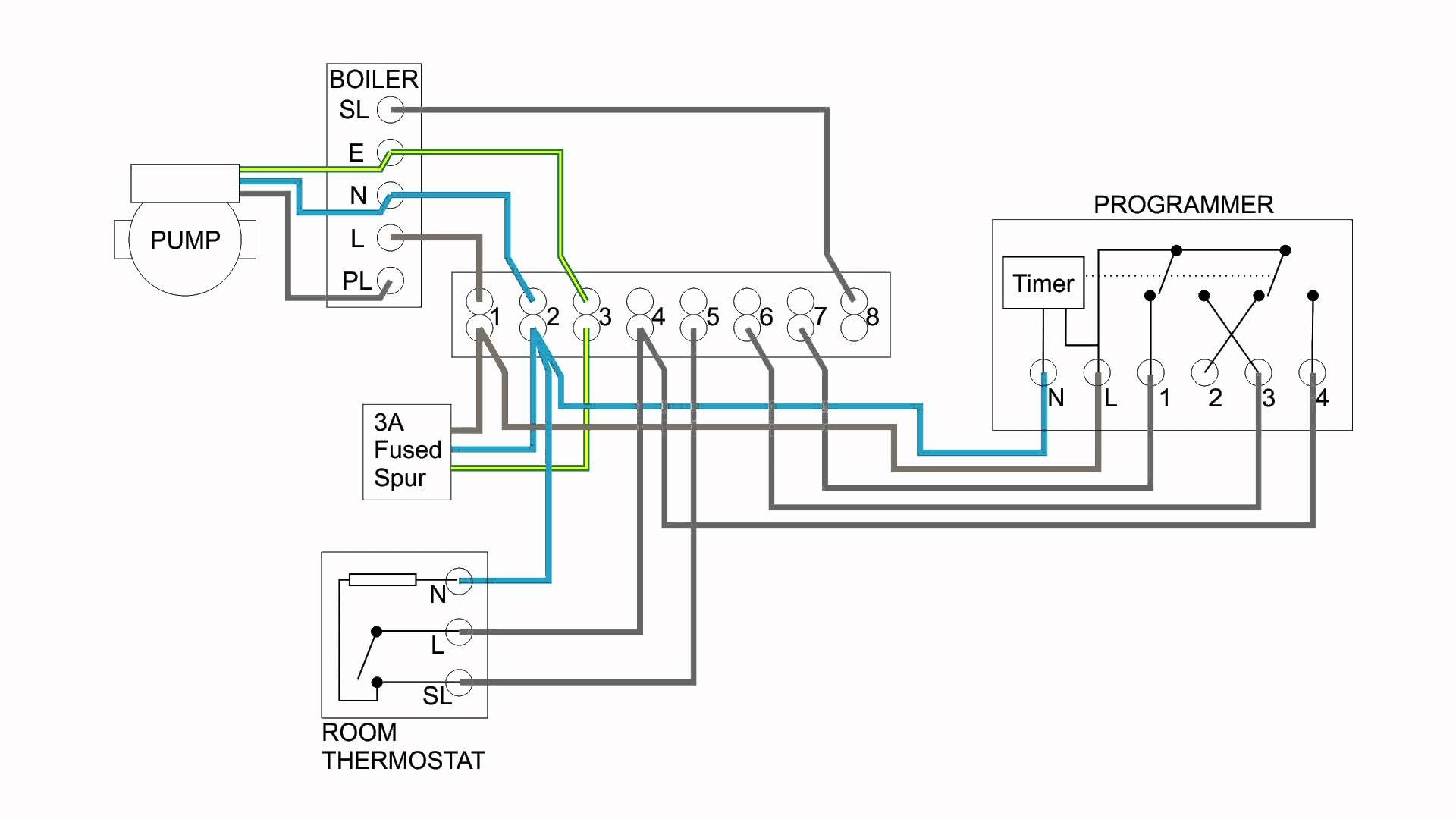 Wiring Diagram Images Detail: Name: underfloor heating thermostat wiring  diagram – Hive Thermostat Wiring Diagram New Central Heating Electrical ...