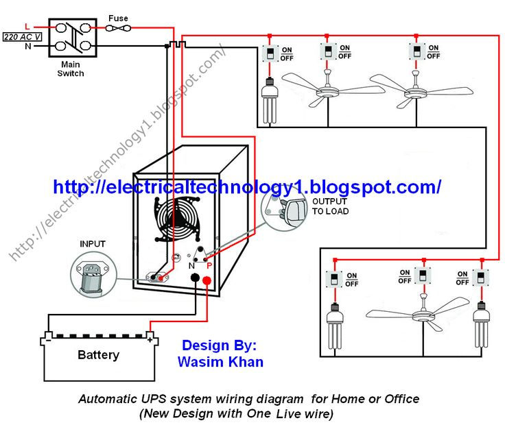ups bypass switch wiring diagram Collection-Automatic UPS system wiring circuit diagram for Home or fice New Design With e Live Wire 2-i
