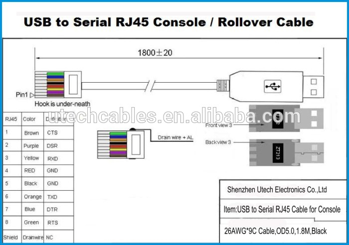 usb to rj45 cable wiring diagram download-ft232 usb to serial rs232 console  rollover cable  download  wiring diagram