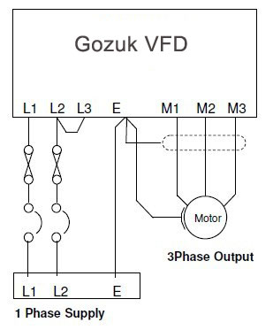 vfd motor wiring diagram Collection-single phase VFD installation diagram 10-c