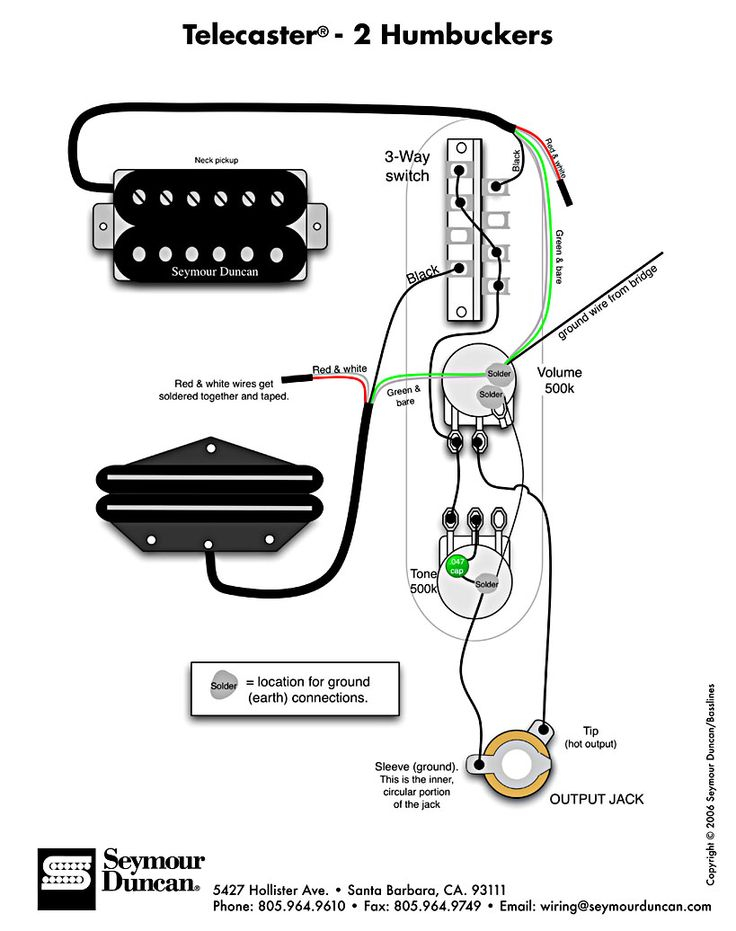 vintage telecaster wiring diagram Collection-Tele Wiring Diagram with 2 humbuckers 1-g