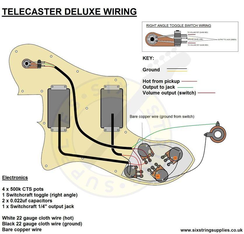 vintage telecaster wiring diagram Download-Telecaster 72 Deluxe Wiring Diagram 17-o