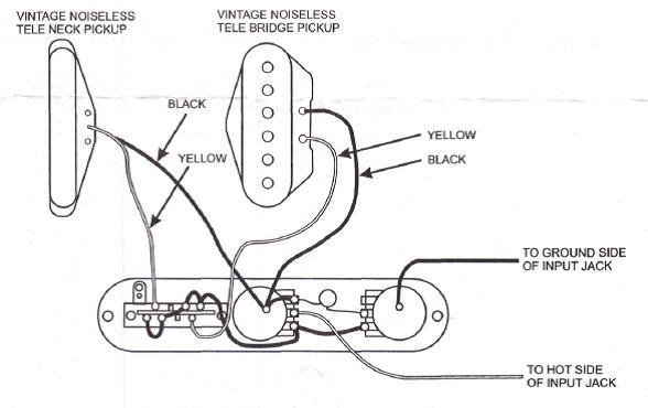 vintage telecaster wiring diagram Download-Vintage Noiseless Treble Bleed 5-h