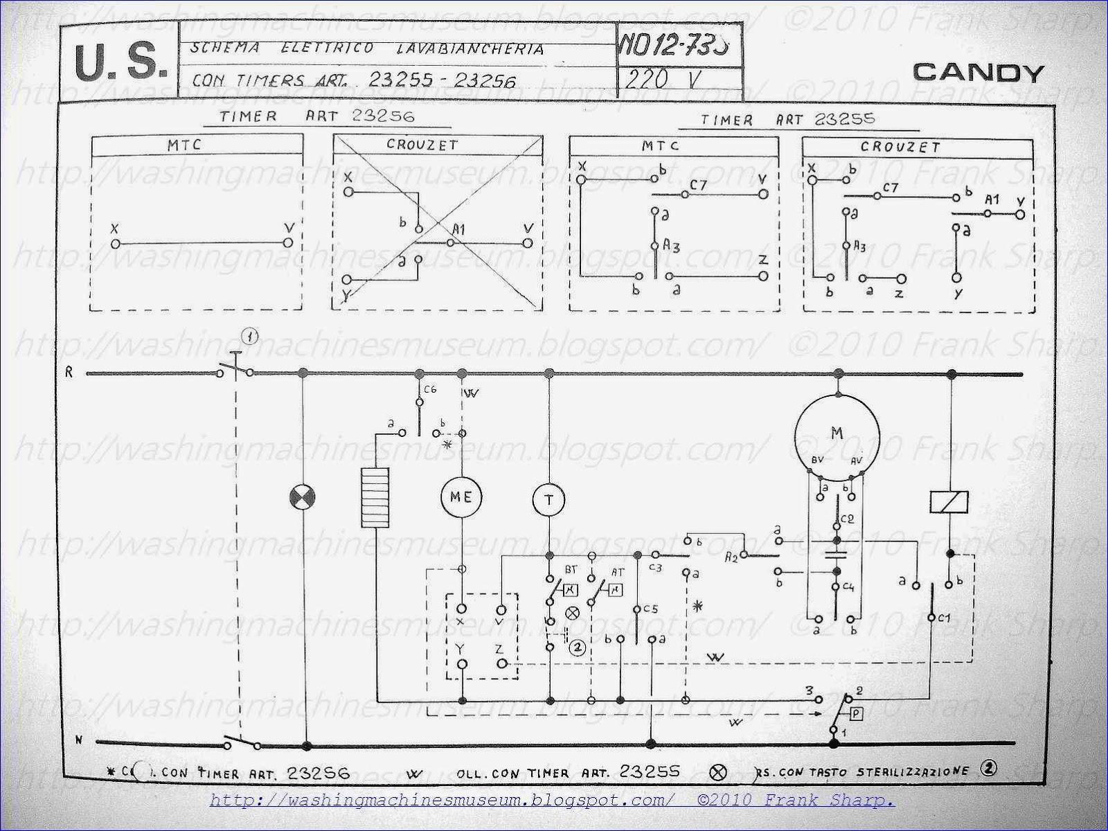 Washing Machine Wiring Diagram and Schematics - Candy Washing Machine with Timer Schematic Diagram 19m