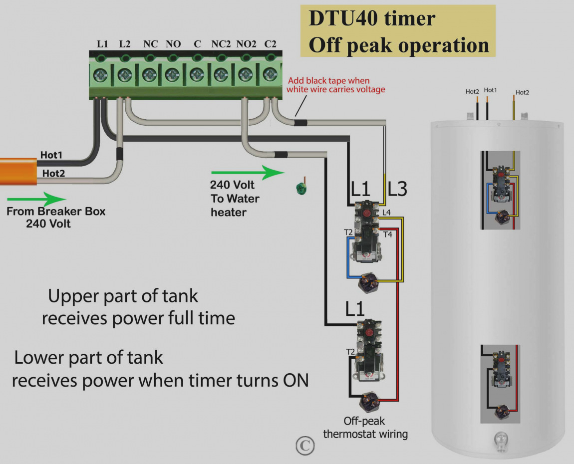 water heater timer wiring diagram Collection-Electric Water Heater Wiring Diagram How To Wire Thermostats 6-h
