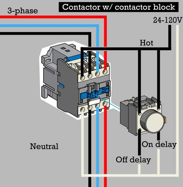 water heater timer wiring diagram Download-How to wire contactor block 8-a