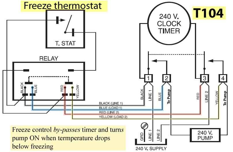 water heater timer wiring diagram Download-how to wire freeze control to wire Intermatic PF1112 freeze controlml 4-g