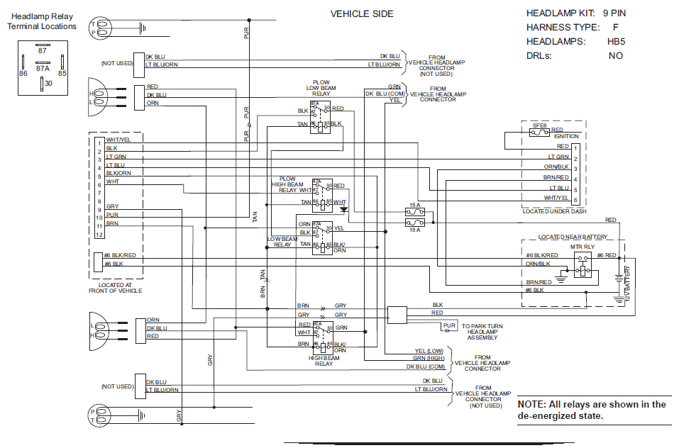 western snow plow wiring diagram ford
