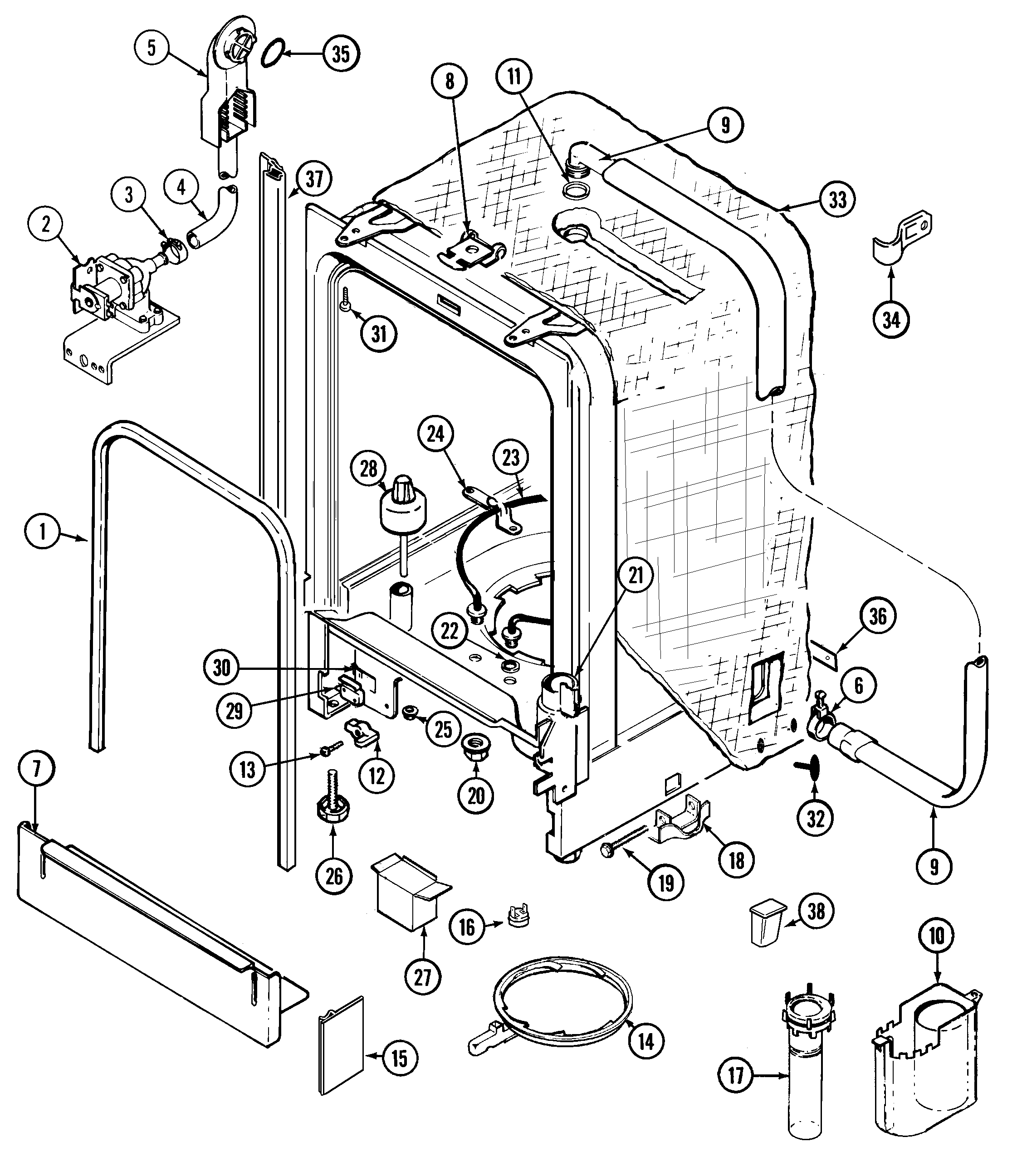 whirlpool dishwasher schematic information schematics wiring diagrams Dryer Wiring Schematics