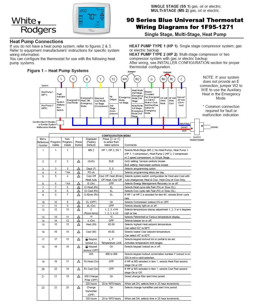white rodgers 1f95 1277 wiring diagram Collection-WR1F White Rodgers Thermostat Wiring Diagram WIRING DIAGRAM 2-d