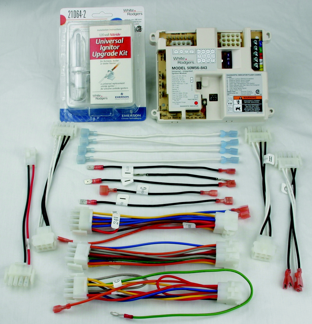 White Rodgers 50e47 843 Wiring Diagram Sample Hot Water Heater Harness Collection Universal Surface Ignition Integrated Furnace Control Kit Download