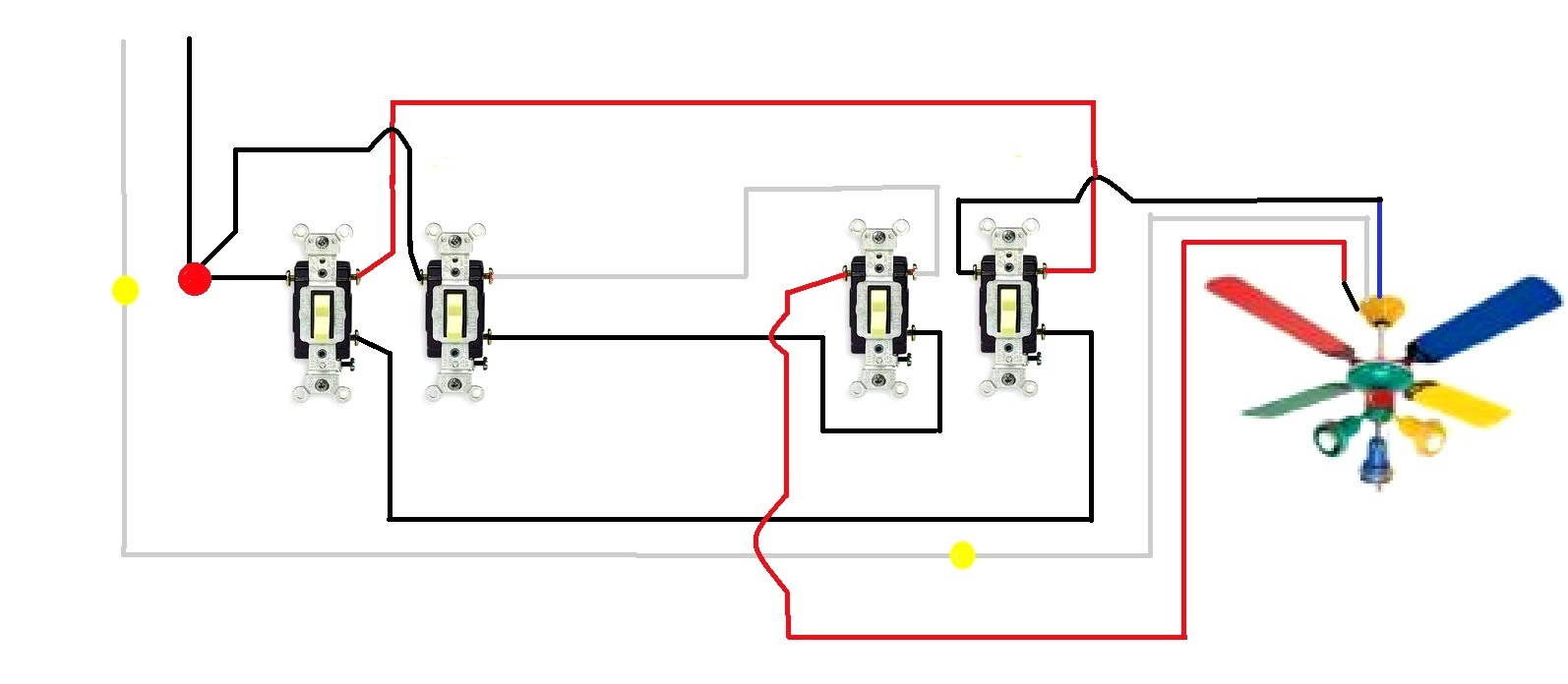 Wiring Diagram 3 Way Switch Ceiling Fan And Light Gallery S
