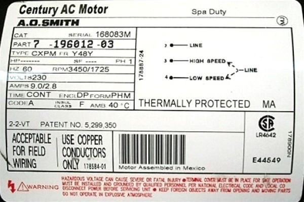 Wiring Diagram Century Electric Company Motors - Century Electric Motor Wiring Diagram A O Smith Schematic 10e