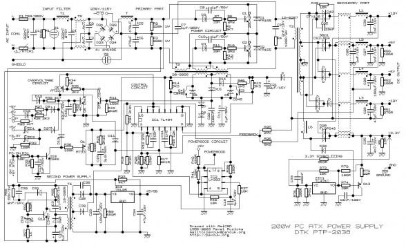 wiring diagram for a power pack pp 20 Download-200 Watt ATX Power Supply Schematic 13-r